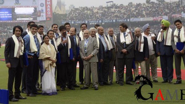 Former players of India and Pakistan were felicitated by West Bengal Chief Minister Mamta Banerjee at the Eden Gardens on Thursday