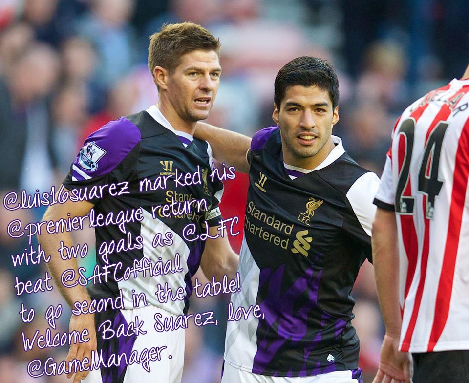 Luis Suarez Returns to Premier League