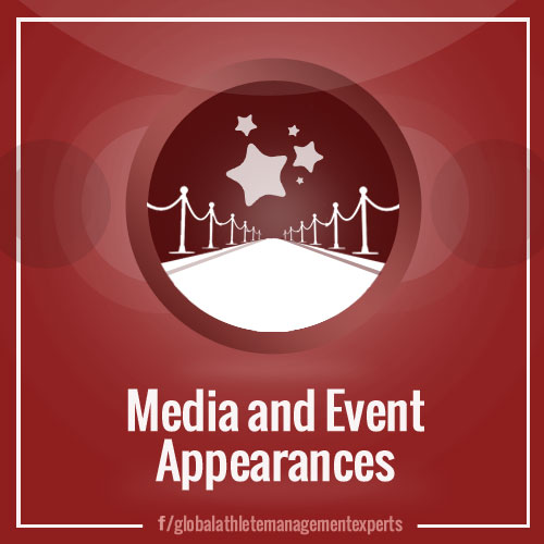 GAME: Media and Event Appearances for Athletes and other Celebrities
