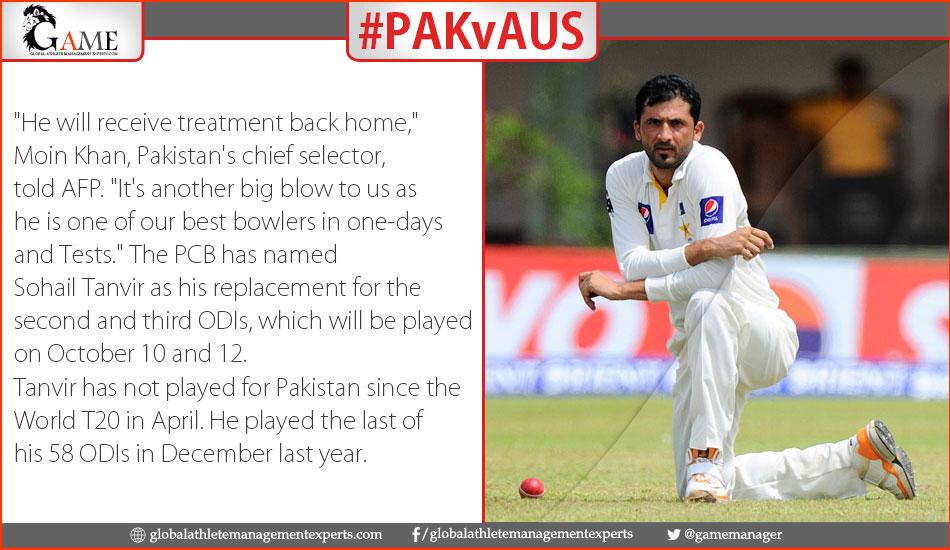 Injured Junaid out of Australia series
