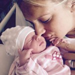 Shaniera and Aiyla Akram, shortly after her birth in Melbourne, Australia.