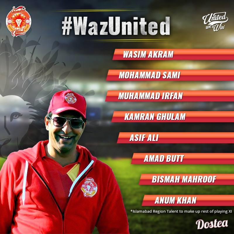 Islamabad United Celebration Match – Waz United v. Deano United